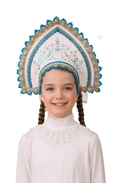 Кокошник Зимние узоры, детский артикул 5409