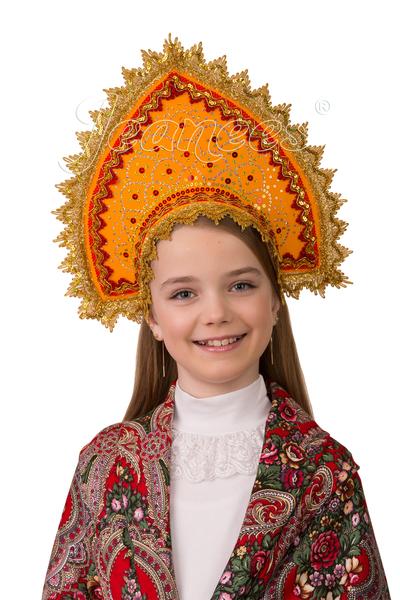 Кокошник Янтарный, детский