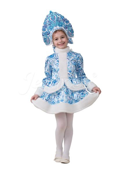 Снегурочка Гжель детский карнавальный костюм