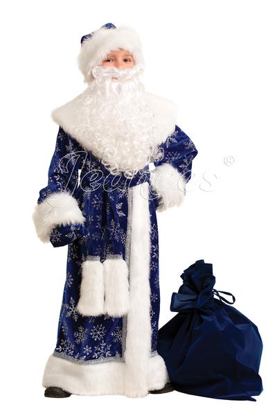 Дед мороз синий велюр
