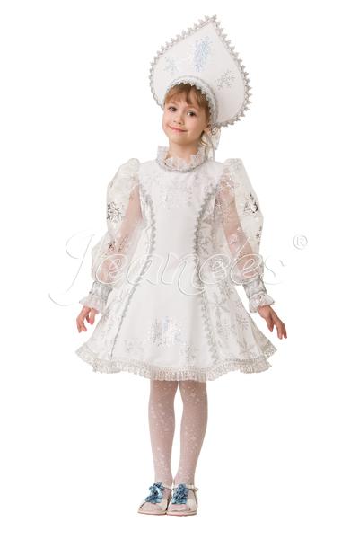 Снегурочка велюр белая, карнавальный наряд детский