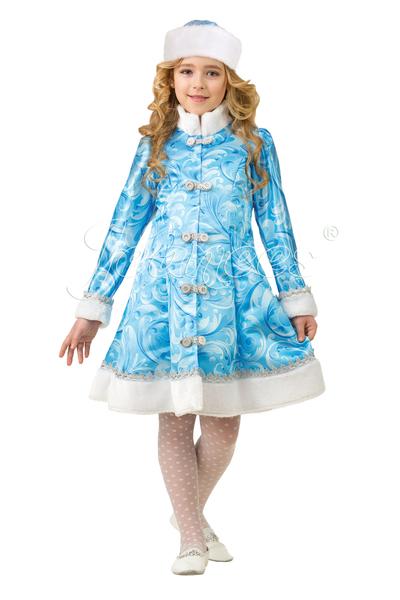 Снегурочка сказочная в шапке, костюм карнавальный детский