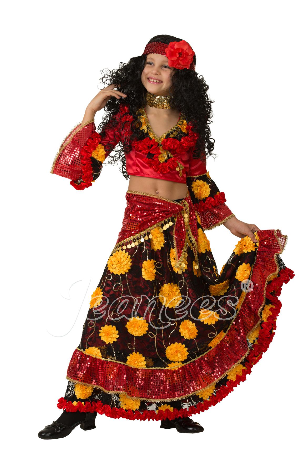Цыганка-гадалка детский театральный костюм