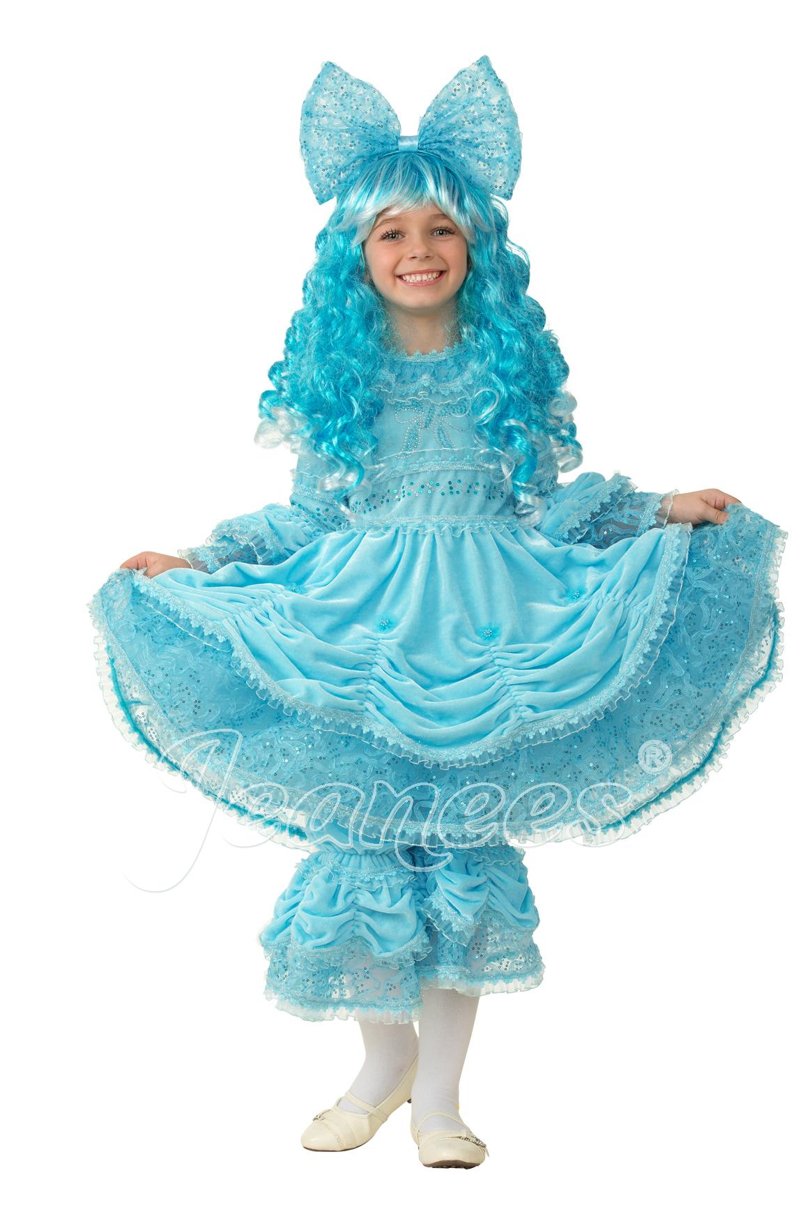 Мальвина детский маскарадный костюм