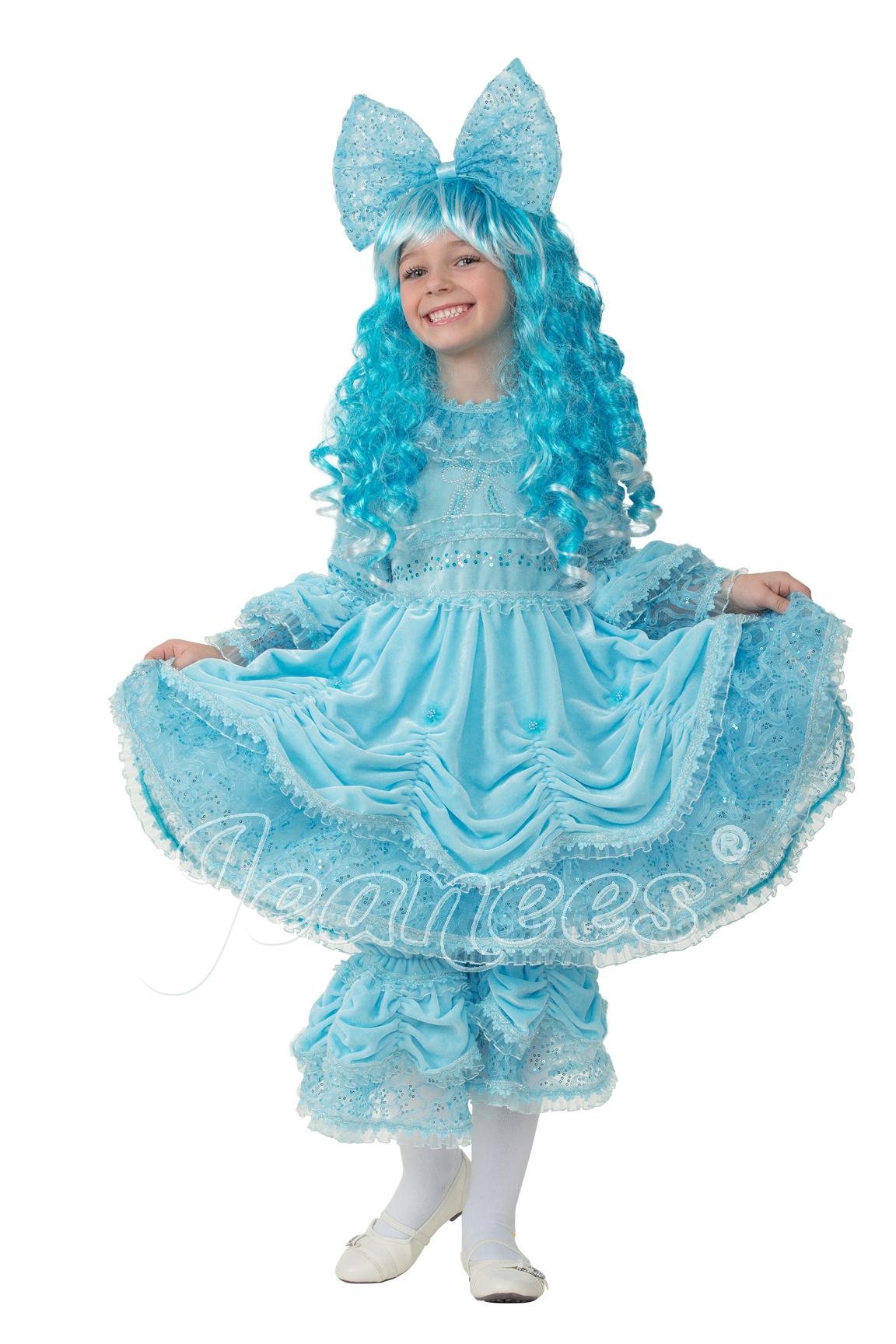 Мальвина детский маскарадный костюм, изображение 2