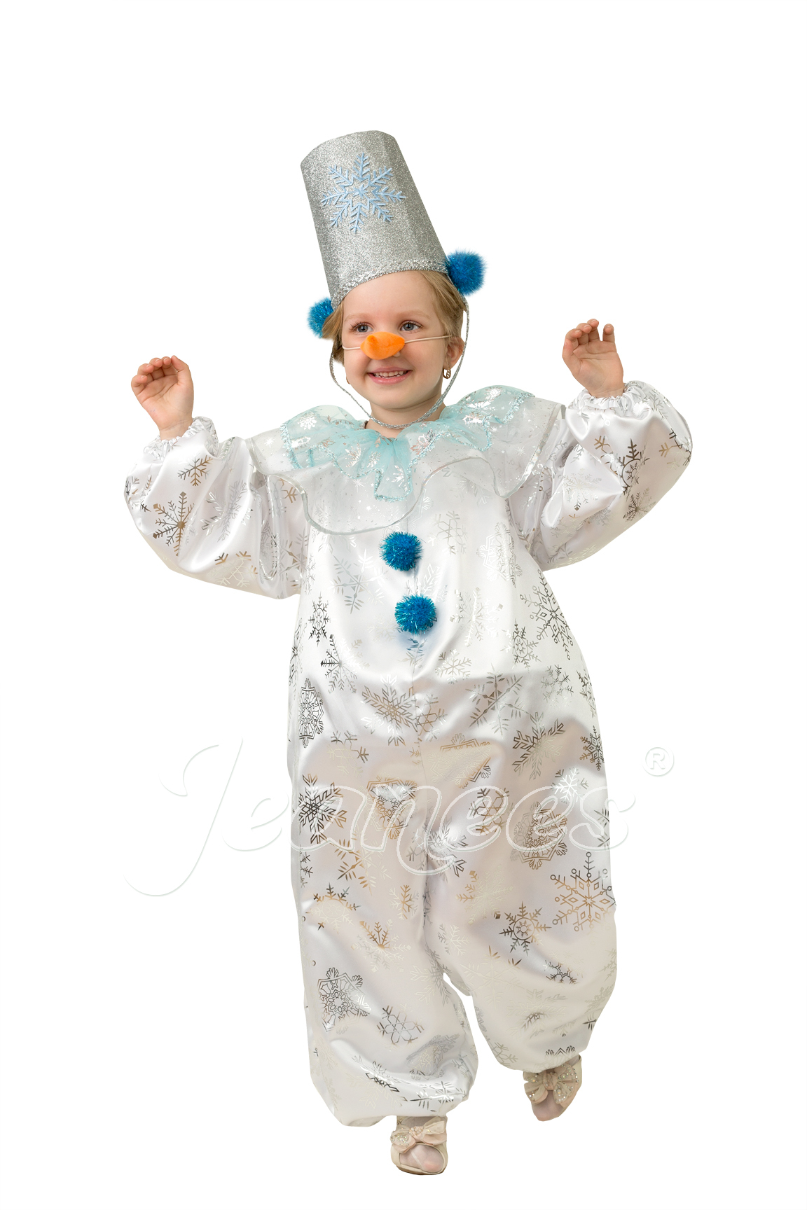 Снеговичок-Снежок детский карнавальный костюм