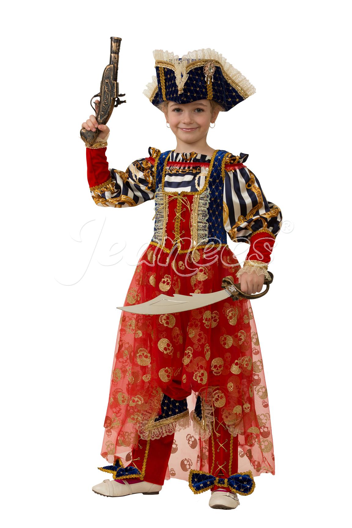 Пиратка Морская детский карнавальный костюм, изображение 2