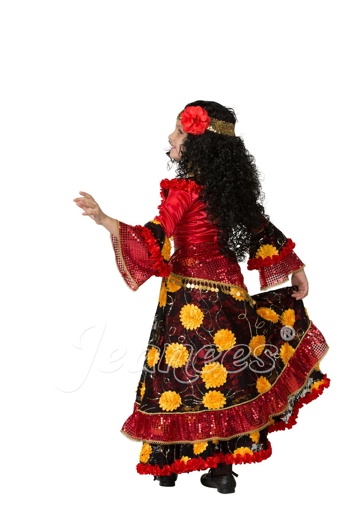 Цыганка-гадалка детский театральный костюм, изображение 3