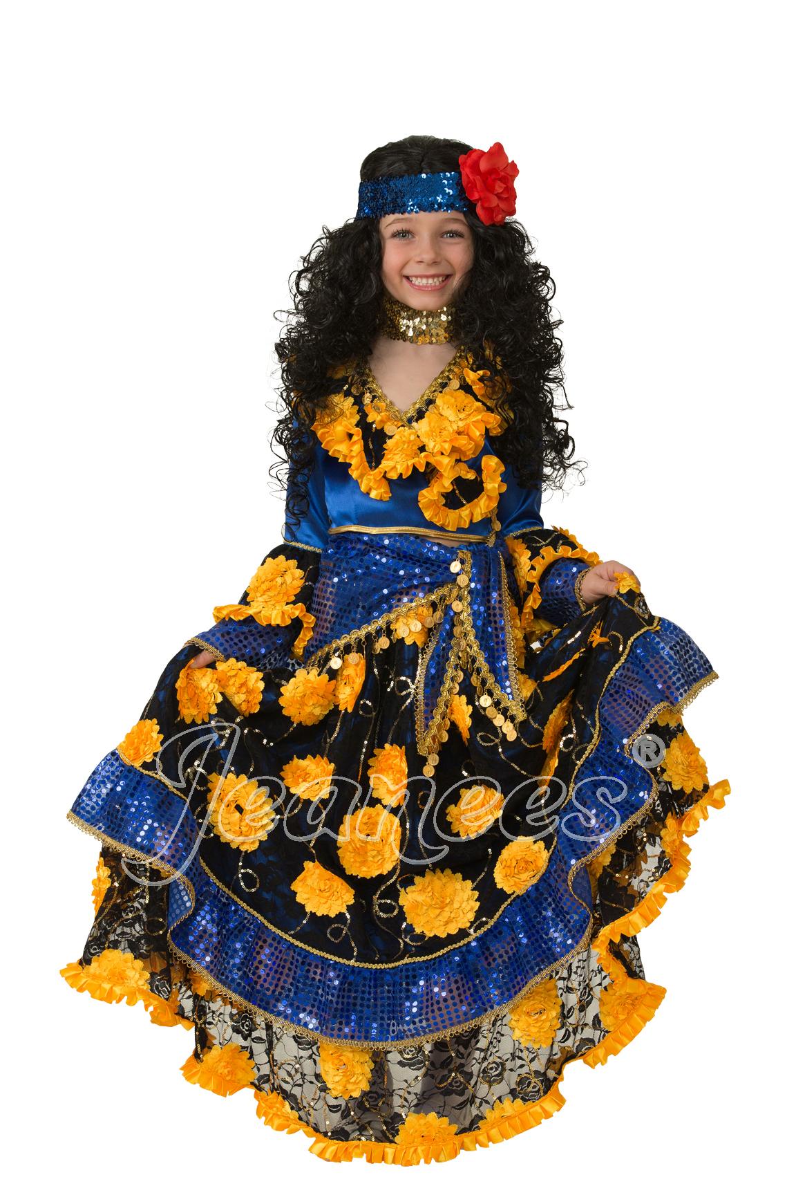 Цыганка-гадалка синяя детский маскарадный костюм, изображение 2