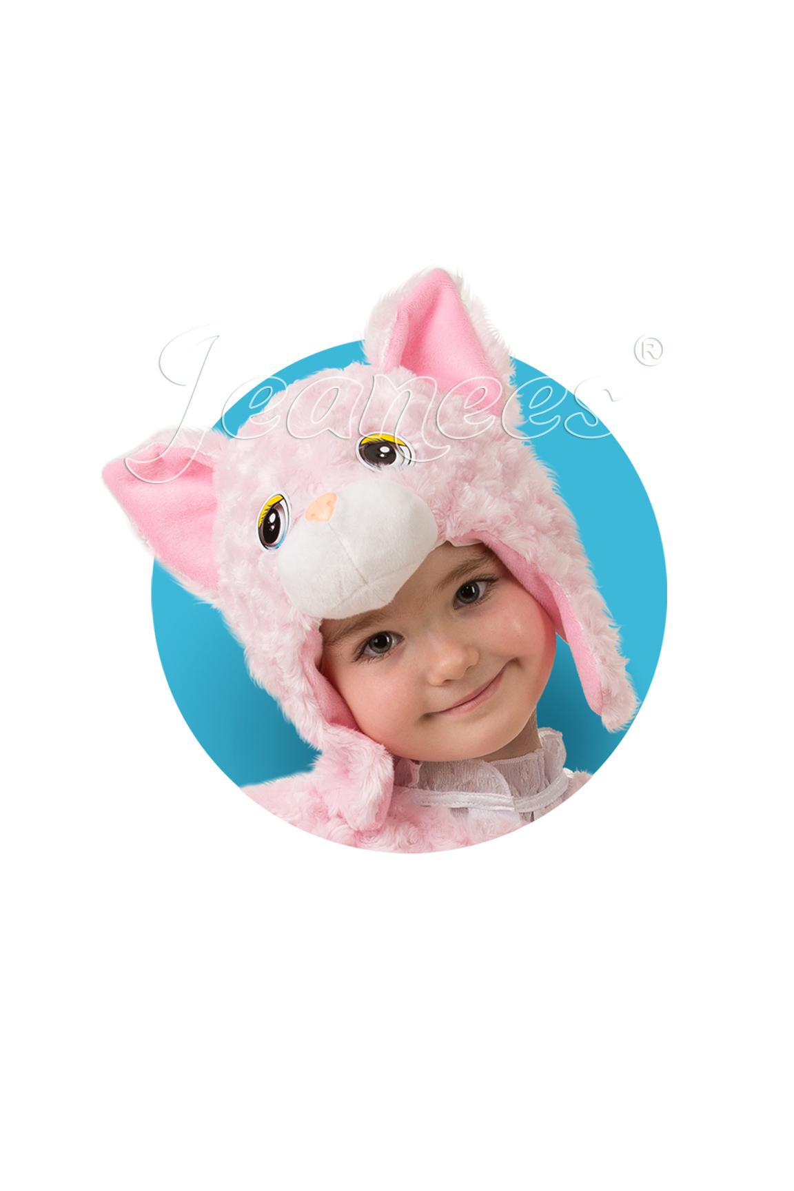 Кошечка муся розовая маска плюш детксая