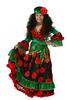 Цыганка-гадалка зеленая детский театральный костюм
